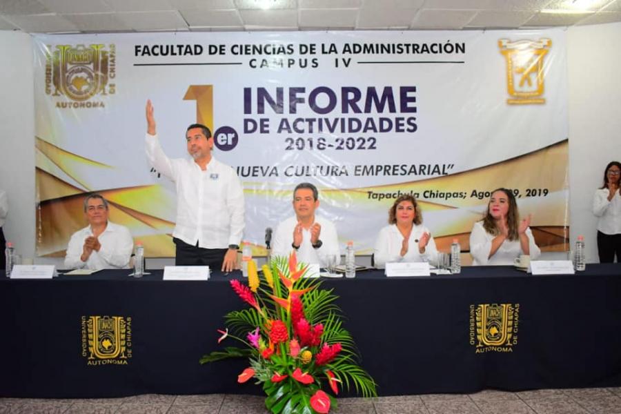 Primer Informe de Actividades del Director de la Facultad de Ciencias de la Administración Campus IV